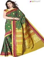 Platinum Solid Chanderi Sari