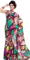 Saree Swarg Floral Print Georgette Sari
