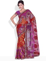 Florence Floral Print, Printed, Geometric Print Synthetic Sari