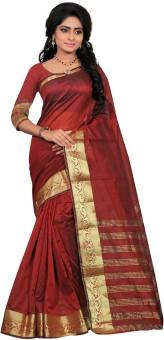 It'S Banii Woven Maheshwari Handloom Silk Sari