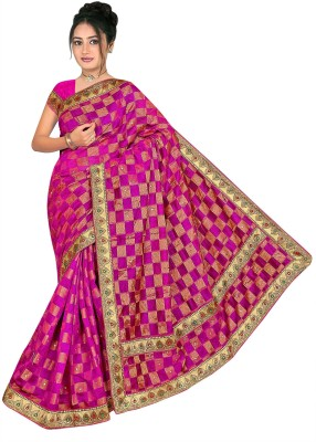 Meet Saree Self Design Bollywood Cotton Linen Blend Sari
