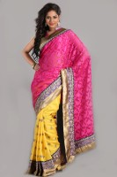 Aparnaa Printed Embroidered Embellished Art Silk, Polycotton Sari