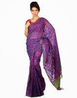 Samyakk Printed Silk Sari