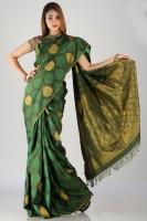 Bhavish Floral Print Silk Sari