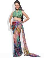Adaas Striped Synthetic Sari