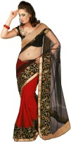Chirag Sarees Self Design Embroidered Embellished Georgette Sari - SARDWMQFZHGF2RMZ