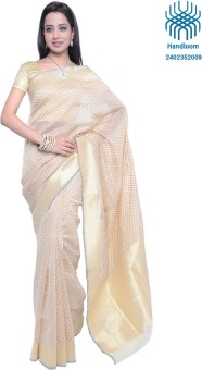 Bazardiha Hathkargha Handlooms Self Design Banarasi Cotton, Silk Sari