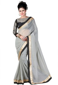 Elevate Women Embriodered Fashion Chiffon Sari