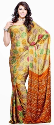 Buy Priyankas Floral Print Silk Sari: Sari