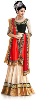 Ruddhi Embellished, Embriodered, Self Design Lehenga Saree Georgette Sari