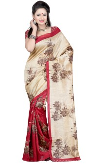 Anju Sarees Printed Bhagalpuri Silk Sari