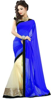 Scube Designes Self Design Bollywood Georgette Sari