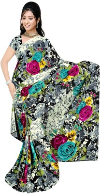 Art Silk Nj Fabric Printed Fashion Art Silk Sari (Grey)