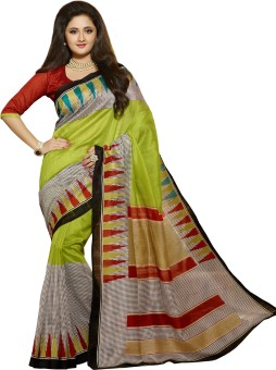 VK Trendz Printed Bhagalpuri Handloom Art Silk Sari