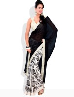 Adaas Floral Print Silk Sari