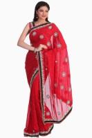 Sareez Solid Georgette Sari
