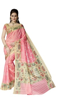 Kavita Sarees Printed Bhagalpuri Handloom Art Silk Sari