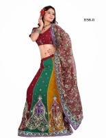 Attire Printed Net, Georgette Sari
