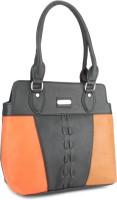Murcia Hand-held Bag Black-Orange-Tan