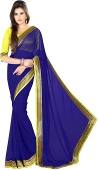 Janasya Self Design, Solid Bollywood Net Sari