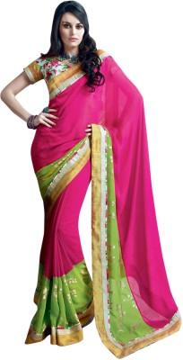 Triveni Self Design Fashion Georgette Sari