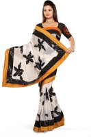 De Marca Printed Embroidered Chiffon Sari