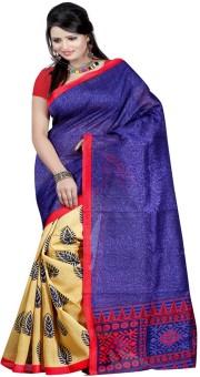 Sonakshi Sarees Self Design Bhagalpuri Silk Sari