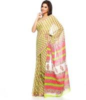 Aapno Rajasthan Floral Print Cotton Sari