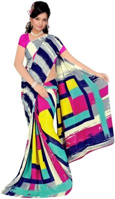 Wear Your Mind Nj Fabric Printed Daily Wear Art Silk Sari (Multicolor)
