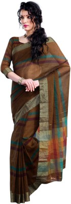 Ishin Solid Cotton Sari available at Flipkart for Rs.699