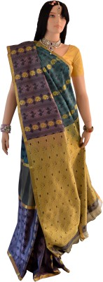 Lifestyle Lakshmi Lifestyle Self Design Kanjivaram Handloom Silk Sari (Multicolor)