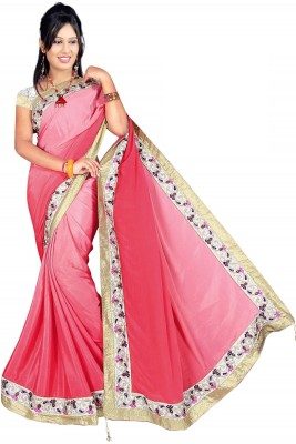 Bollywood Saree Self Design, Solid Bollywood Silk Sari