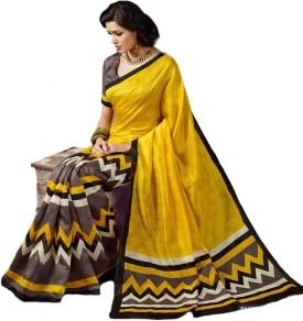 Esk Fashions Self Design Bollywood Handloom Art Silk Sari - SARE7DUFGYEFWGHG