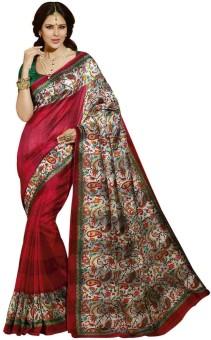 ShoppingOye Printed Bhagalpuri Art Silk Sari