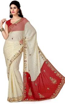 Saree Swarg Solid Bollywood Satin Sari