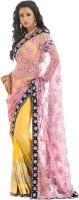 Samyakk Printed Net, Silk Sari