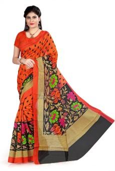 Sunita Sarees Printed Mysore Poly Silk Sari