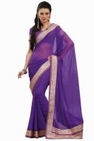 Sareez Solid Chiffon Sari