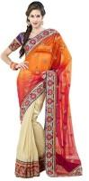 Fashionista Printed Embellished Cotton, Viscose Sari