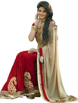 Fashionesta Embriodered Fashion Georgette Sari