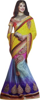 Manvaa Self Design Fashion Jacquard, Net Sari