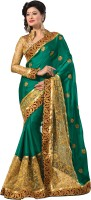 Mahavir Creation Self Design Fashion Satin, Net Sari