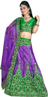 Triveni Self Design Lehenga Saree Net Sari