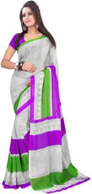 Sweethearts Fashion Sweethearts Fashion Checkered Daily Wear Georgette Sari (Multicolor)