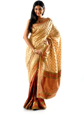 Shree Saree Kunj Self Design Embroidered Embellished Art Silk Sari