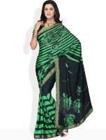 Manvi Striped Synthetic Sari