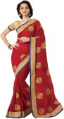 MS Retail Self Design Fashion Chiffon Sari