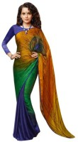 Nanda Silk Mills Self Design Crepe Sari