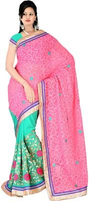 Shristi Fashion Embriodered, Embellished Lehenga Saree Jacquard, Georgette Sari