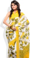 Seymore Solid, Striped Synthetic Sari